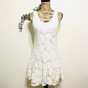 Topshop Floral Lace Sleeveless Dress